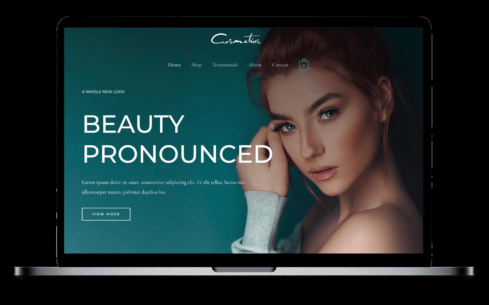 WordPress e-shop Template(Beauty)