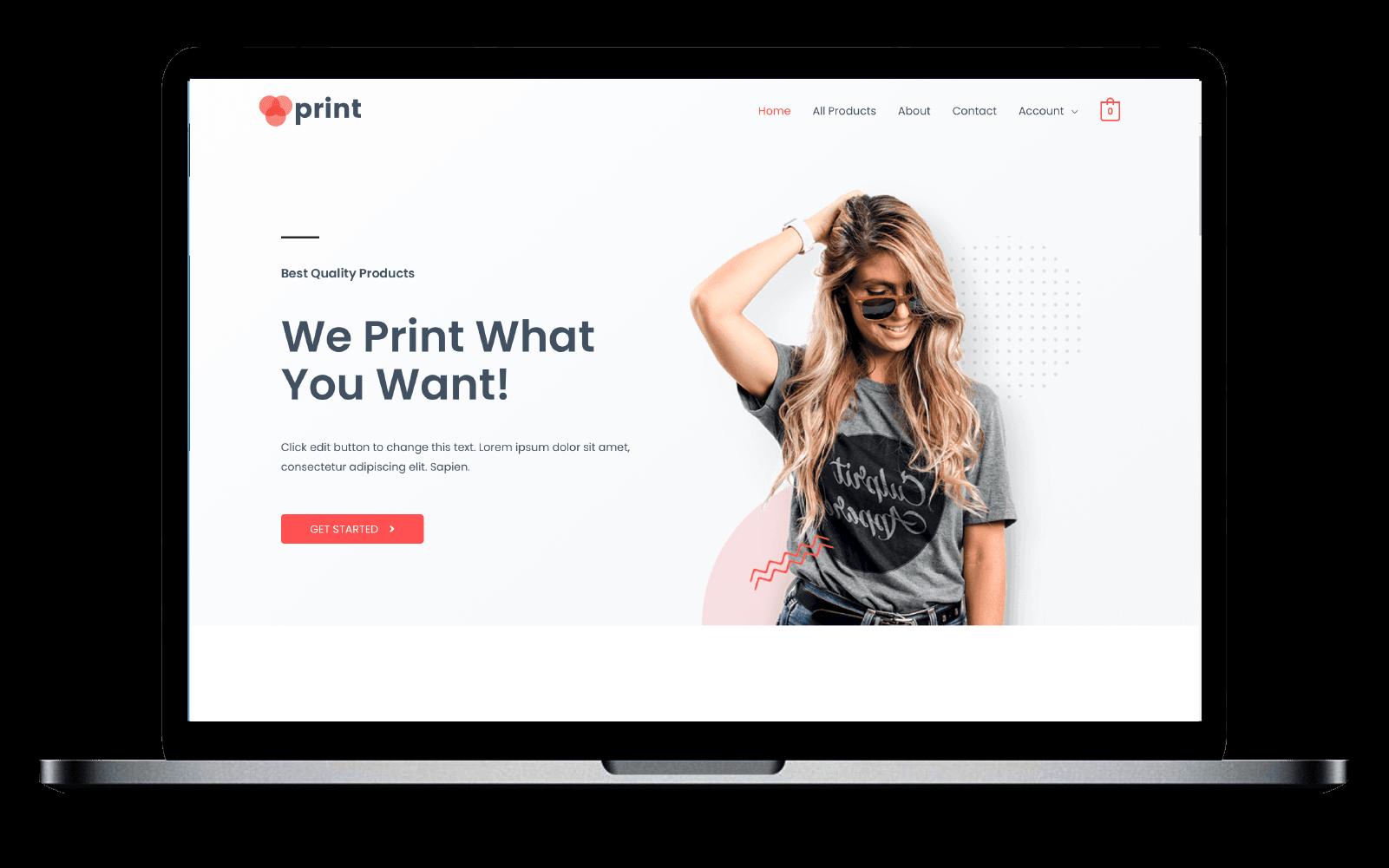 WordPress e-shop Template(Retail)